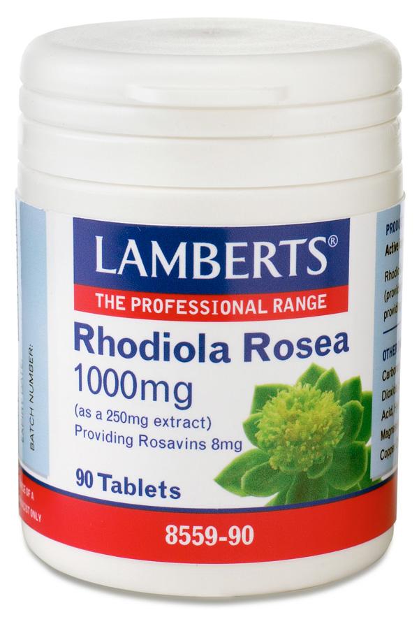 ROSENROT - RHODIOLA ROSEA EXTRAKT 1000mg (rodiola rosavins kosttillskott) (90 tabletter)